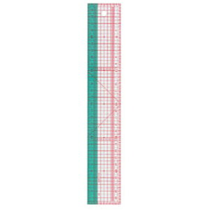【送料無料】クロバー 方眼定規 30cm(パッチワークに便利)定規 25-053