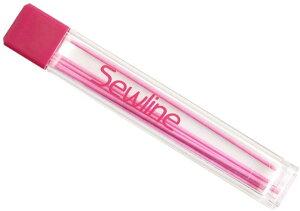【送料無料】Sewline ソーラインシャープペンシル専用替芯 ピンク 6本入り