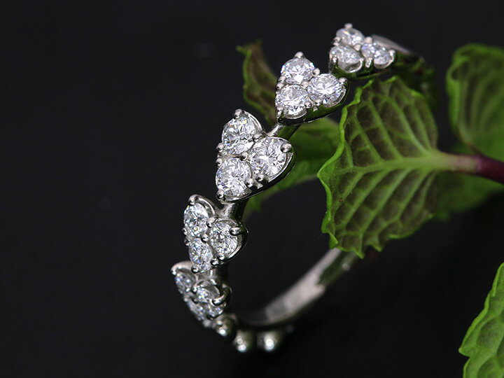 H&C ハート&キューピット ダイヤモンド0.4ctリング 指輪 ハートのエタニティ K18(WG・PT素材対応) 眩しいほどの輝き 受注商品/Ycollectionワイコレクション/送料無料