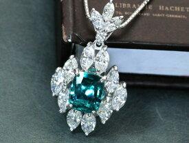 【価格交渉 受付中】グランディディエライト 大粒1.51ct 豪華ダイヤモンド1.687ct 取り巻き 貫禄のPTプラチナネックレス 稀少石 レアストーン 1点もの/Ycollectionワイコレクション/送料無料