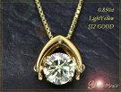 大粒0.85ctLightYellowSI2GOODほんのりイエローカラーのダイヤが揺れるK18定番デザインダンシングストーンネックレスソーティング付属1点もの/Ycollectionワイコレクション/送料無料