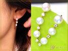 3WAYイヤーカフにも使えるK18アコヤ真珠のピアス上質のパールで3通りの楽しみ方ができます!Ycollectionワイコレクション