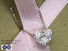H&Cハート&キューピット3石で描く美しいハートシェイプダイヤモンド0.32ctPTネックレス選べる素材K18/K18WG(18金)受注品/Ycollectionワイコレクション/送料無料