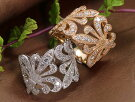 透かしデザインにダイヤモンド1.00ctとミルグレーンが美しいPT900プラチナリング指輪1カラット(各地金素材対応可能)受注品/Ycollectionワイコレクション/送料無料
