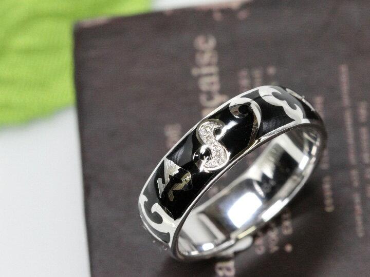 【エナメルナンバー】黒(白)エナメルに弾むナンバー(数字)K18WGリング 指輪(各地金素材対応可能)受注品/Ycollectionワイコレクション/送料無料