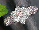 ピンクダイヤモンド0.128ctFANCYPINKファンシーピンクVS2ピンクダイヤモンドパヴェびっしり!PT900プラチナリング指輪鑑定書付1点もの/Ycollectionワイコレクション/送料無料