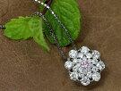 ピンクダイヤモンドダイヤモンド取り巻きPTプチネックレスFANCYLIGHTPINK0.051ctI1プラチナネックPT900/PT8501点もの/Ycollectionワイコレクション/送料無料