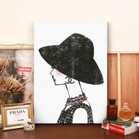 【 アートでお部屋のセンスUP! 送料無料 】【 Grace cat Art 】サイズが選べるキャンバスパネル アート 絵画 / アートパネル / アートポスター / グラフィック アート / インテリア アート / ギフト 【 オマージュモチーフ:CHANEL / シャネル】