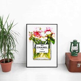 【 アートでお部屋のセンスUP! 送料無料 】【 Grace cat Art 】サイズが選べるアートポスター + アルミスキニーフレーム額装セット / アート / キャンバス アート / グラフィック アート / インテリア アート / ギフト 【 オマージュモチーフ:CHANEL / シャネル 】