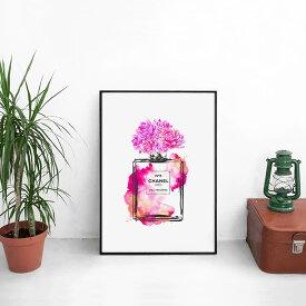 \ お部屋のイメチェン!! /送料無料【 Grace cat Art 】サイズが選べるアートポスター + アルミスキニーフレーム額装セット / アート / キャンバス アート / グラフィック アート / インテリア アート / ギフト 【 オマージュモチーフ:CHANEL / シャネル 】