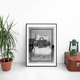 新生活に!!【 Grace cat Art 】サイズが選べるアートポスター + アルミスキニーフレーム額装セット / アート / キャンバス アート / グラフィック アート / インテリア アート / ギフト 【 オマージュモチーフ:CELINE / セリーヌ 】