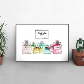 【 Grace cat Art 】サイズが選べるアートポスター + アルミスキニーフレーム額装セット / アート / キャンバス アート / グラフィック アート / インテリア アート / ギフト 【 オマージュモチーフ:Dior/ ディオール 】