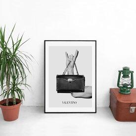 【 選べる200デザイン!! 送料無料 】【 Grace cat Art 】サイズが選べるアートポスター + アルミスキニーフレーム額装セット / アート / キャンバス アート / グラフィック アート / インテリア ギフト 【 オマージュモチーフ:VALENTINO/ヴァレンティノ】