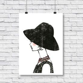 【 お部屋のイメチェン!!+ 送料無料 】【 Grace cat Art 】サイズが選べるアートポスター / アートパネル / キャンバスパネル アート / グラフィック アート / インテリア アート / ギフト 【 オマージュモチーフ:CHANEL / シャネル 】