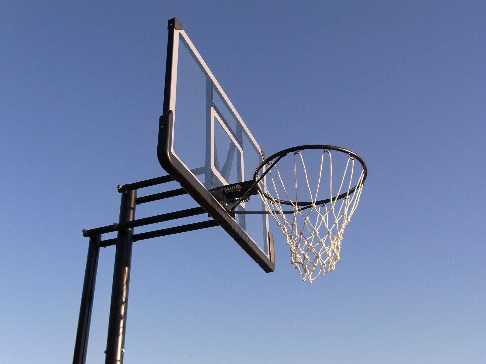 【送料無料】 ハンドルを回すだけの簡単高さ調節とシンプルなデザインが好評です。バスケットゴール BG-305DX 屋外 家庭用 バスケットボール ゴール