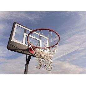レイアップの練習もOK BG-270BK 透明ポリカーボネート バスケットゴール オレンジリング、極太ネット 屋外 家庭用 バスケットボール ゴール リング プレゼント