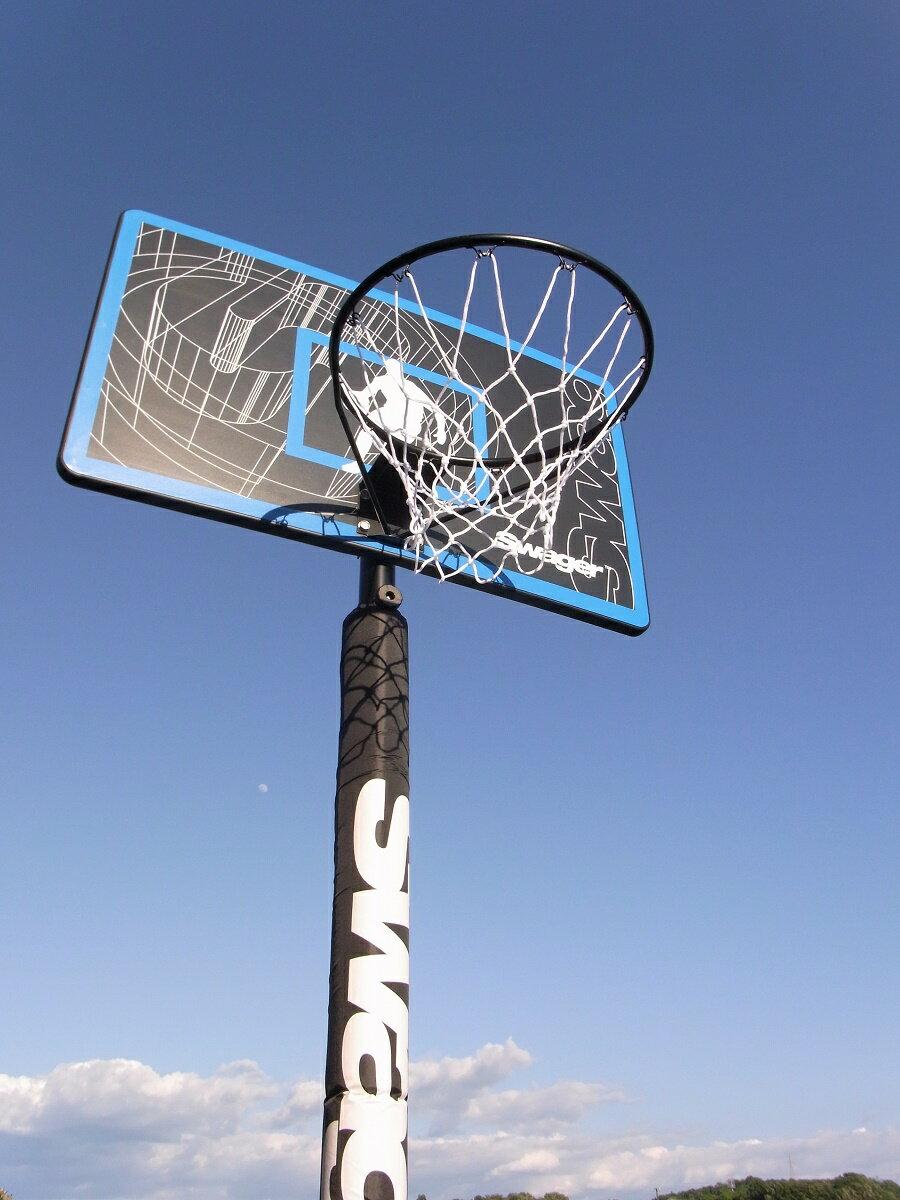 ミニバスから一般まで対応 レイアップの練習にも ポールパッドも標準装備【送料無料】バスケットゴール SWG-305ST 屋外 家庭用 バスケットボール ゴール