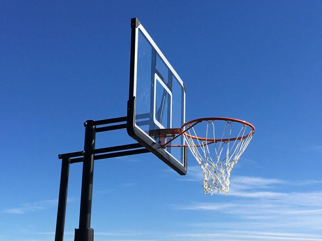 ハンドルを回すだけの簡単高さ調節 BG-305DX シンプルなデザインが好評です。バスケットゴール 屋外 家庭用 バスケットボール ゴール バックボード リング プレゼント