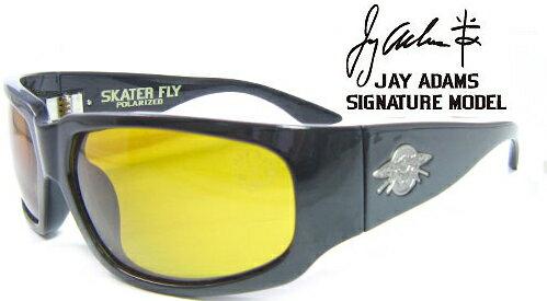 """""""ブラックフライズ(BLACK FLYS) スケーターフライ偏光レンズ SKATER FLY(POL)/SBLK YEL Sブラック イエロー""""【ジェイアダムス JAY ADAMS】送料無料"""