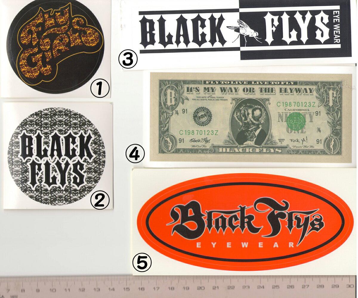 """""""ブラックフライズ(BLACK FLYS)ステッカーSTICKER1""""【大特価の最安値挑戦】郵送指定で120円可能-代引き決済不可 サングラスアイウェア専門のレイバンオークリー度付きウェアアパレルはtシャツキャップ無地"""