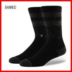"""""""スタンス(STANCE)メンズバンドソックス靴下BANNED SOX/L(25.5-29.0cm)""""郵送指定で送料無料−代引決済不可 正規品販売代理店"""