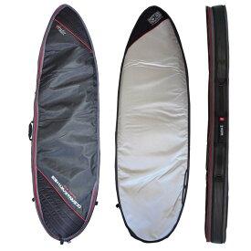 """オーシャンアンドアース(OCEAN&EARTH)6'0""""(183cm)ハードケースダブルコンパクトショートボード1~2本用HARD CASE DOUBLE COMPACT SHORT 6'0""""SHORTBOARD COVER/BlackRed""""SURFBOARD サーフボード"""
