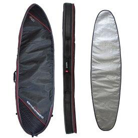 """オーシャンアンドアース(OCEAN&EARTH)6'0""""(183cm)ハードケースダブルワイドショートボード1~2本用HARD CASE DOUBLE CWIDE SHORT 6'0""""SHORTBOARD COVER/BlackRed""""SURFBOARD サーフボード"""