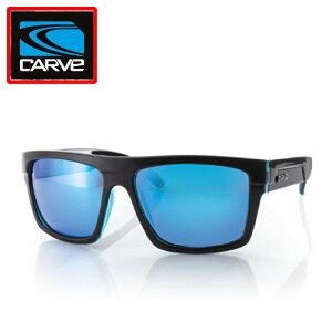 """カーブ(CARVE)メンズボレーサングラスVolley Black・Clear Blue REVO POLARIZEDブラッククリアブルーミラー偏光""""郵送指定で送料無料−代引決済不可 レイバンオークリー度付サングラスアイウェア専門"""
