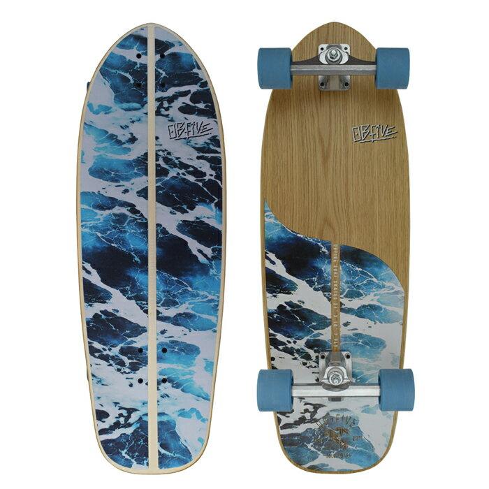 """オービーファイブ(OBfive)31""""(78.7cm)ホワイトウォッシュラウンドサーフトラッククルーザーWhite Wash RKP-1 31 ROUND SKATEBOARD""""サーフスケートボード SKATEBOARD/PennyペニーFlaminko"""