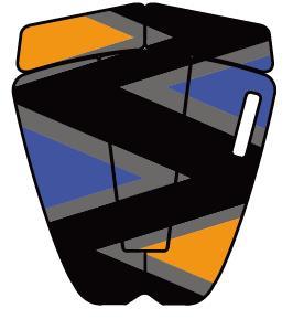 """""""【オンアミッション オーエーエム】 (OAM on a mission) PAULO PREIETTO/ブルーオレンジBlueOrange""""/サーフ サーフィン サーファー SURFIN SURF SURFER 便利/デッキパッド デッキパッチ DECK PAD DECK PATCH"""
