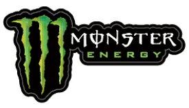 """モンスターエナジー(MONSTER ENERGY)ロゴ&トレードマークステッカーE3""""ステッカーはボルコムビラボンベビーインカーバンズ健康食品ドリンクや飲料"""
