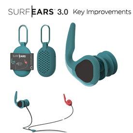 サーフイヤーズ3.0 (SURF EARS) サーフ防音防滴 耳栓みみせんクリエーチャークリエイチャーズCREATURES《郵送ならば送料無料-代引き決済不可》【サーファーズイヤー予防!水没し辛い】プール 睡眠 騒音 遮音 防音 飛行機 DJ
