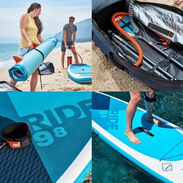 """RedPaddle(レッドパドルサップ)インフレータブルSUPボード10'6""""RIDEMSL(ライド)REDPADDLE長さ向きカーボン漕ぎ方"""