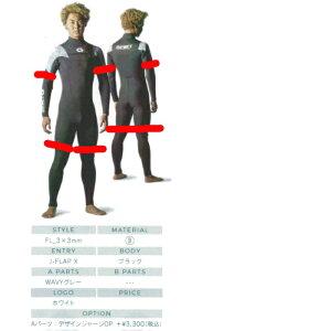 ビーウェット(BE WET) ACROSS 2*2mm オーダーショートスリーブスプリングウェットスーツ半袖短丈パンツ FULLSUITS WETSUITS ORDER ウエットスーツ 種類 オーダー おすすめ カスタム ブランド APEX 季節 ブ