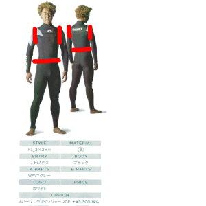 ビーウェット(BE WET) ACROSS 2*2mm オーダーベストウェットスーツ袖なしジャケットシャツ FULLSUITS WETSUITS ORDER ウエットスーツ 種類 オーダー おすすめ カスタム ブランド APEX 季節 ブランド 種類