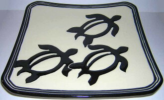 """Lee ceramics Hawaiian (LEE CERAMICS HAWAII) square plate (plate) ""/ life miscellaneous goods kitchen tableware dish cooking"