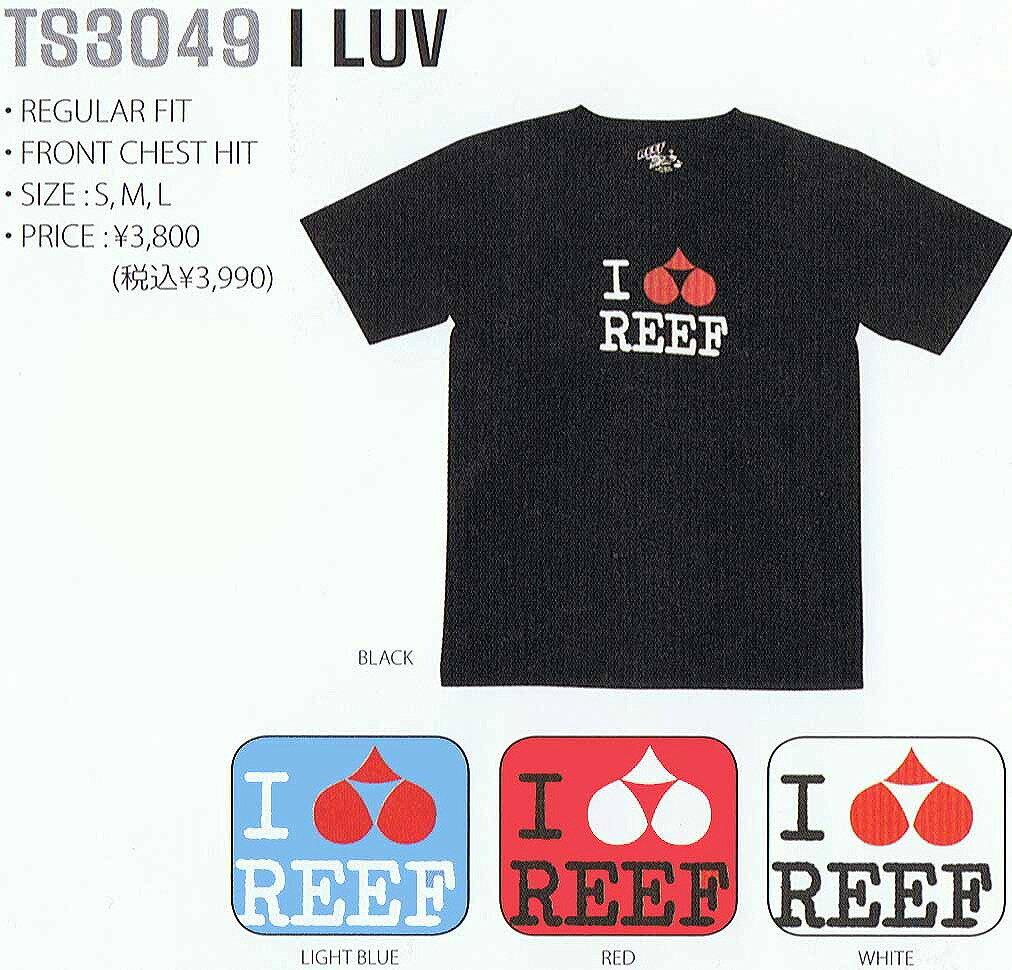 """タイムセール""""リーフREEF半袖TシャツI LUV""""/ウェアアパレル/SURFINSURFサーフサーフィン便利"""