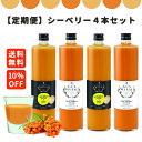 【定期購入】シーベリージュース (サジー) 100%+ゆず お好きな味4点組み合わせセット 720ml グアマラル