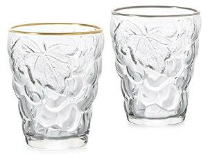 アデリア タンブラー クリア 260ml ぶどうのグラス(ゴールド&プラチナ) ペアギフト 化粧箱入 日本製 S-6119