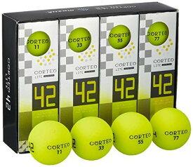 【ポイント5倍】muziik ゴルフボール コルテオライト42 コルテオライト 42 イエローボール 1ダース イエロー