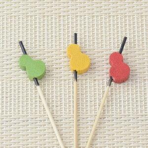 飾り串 ひょうたん 10本 セット お弁当グッズ おせち 和風 飾り 小物 ピック お正月 お花見 運動会 行楽 [M便 1/12] [12861]