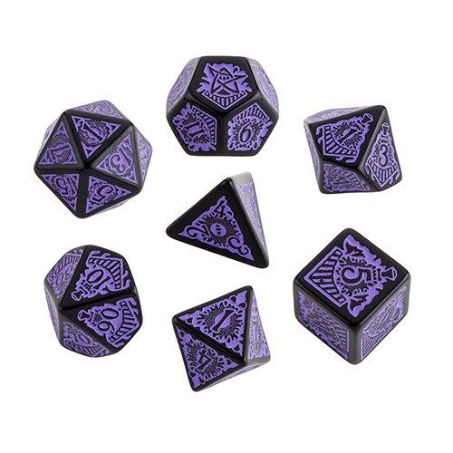 クトゥルフダイス「オリエント急行」7個セット 黒地紫インク