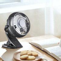 YescomUSB扇風機卓上クリップ型静音小型USBファンミニ扇風機風量調節360度角度調整4枚羽根ブラック