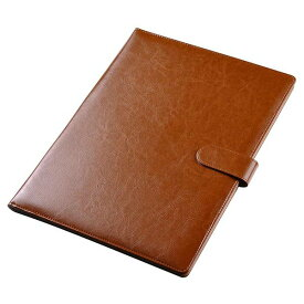 「最大1,000オフクーポン配布中」Yescom 高級PUレザー 会議パッド a4 クリップボード クリップファイル ファイル a4 pu 契約書サイン フォルダー 書類 a4 バインダー 署名フォルダ 事務用品 ブラウン