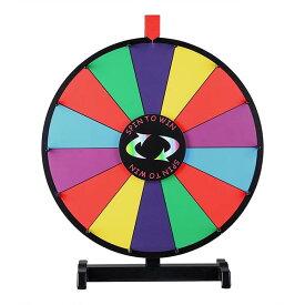 WinSpin ルーレット 決定ルーレット 罰ゲームルーレット 幸運ホイール抽選 LUCKY WHEEL 卓上用 18インチ