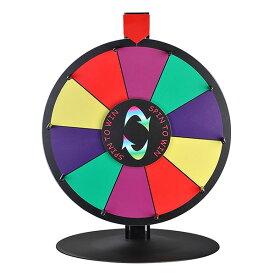 WinSpin ルーレット 決定ルーレット 罰ゲームルーレット 幸運ホイール抽選 LUCKY WHEEL 卓上用 16インチ