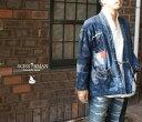 【送料無料】 SCISSORMAN シザーマン 1022KURASHIKI DENIM REMAKE HAORI 倉敷デニム ヒッコリー刺子 リメイク羽織りジ…