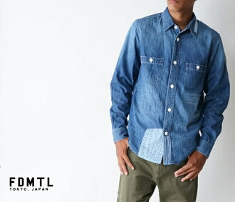 It is made in processing denim long sleeves shirt Kojima, Okayama for fa17sh33 DENIM SHIRT 3YR WASH quilting stitch three years