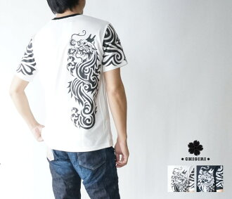 Product made in chs33651 try Baru dragon sleeve print reshuffling short sleeves T-shirt Japan