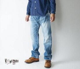 【SALE】 ETERNAL /エターナル 【送料無料】52094l リアルユーズド ローライズ 14.3oz 5ポケットストレートジーンズ ライトインディゴ ボタンフライ 岡山児島製 日本製 大きいサイズ 裾上げ 28-40